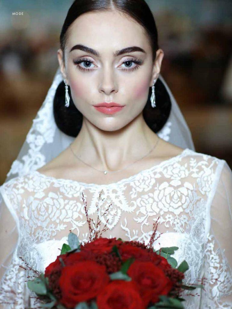 Elegant Bruduppsättning och makeup