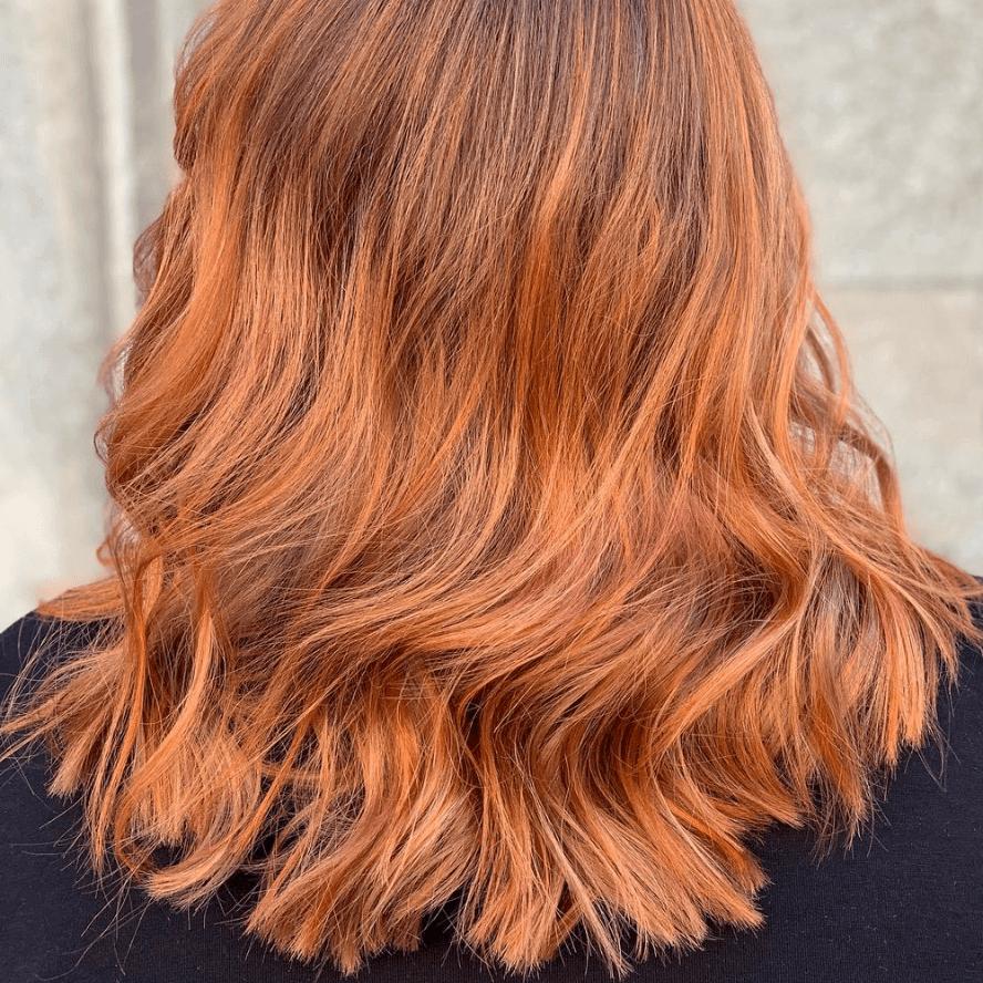 copper melt hår