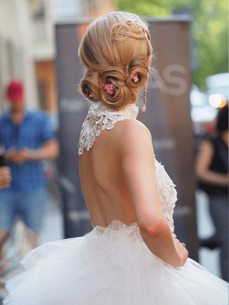 modevisning på gatan