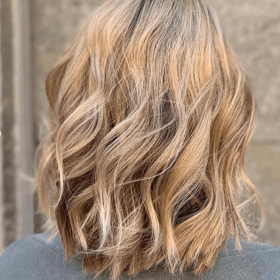 varm blond hårfärg